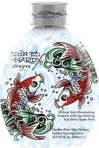 Ed Hardy Tanning KOI FISH